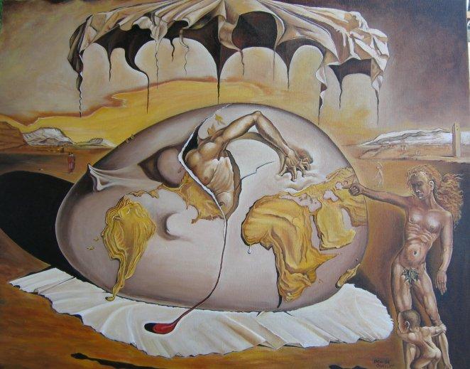 Copie d'une toile de Dali