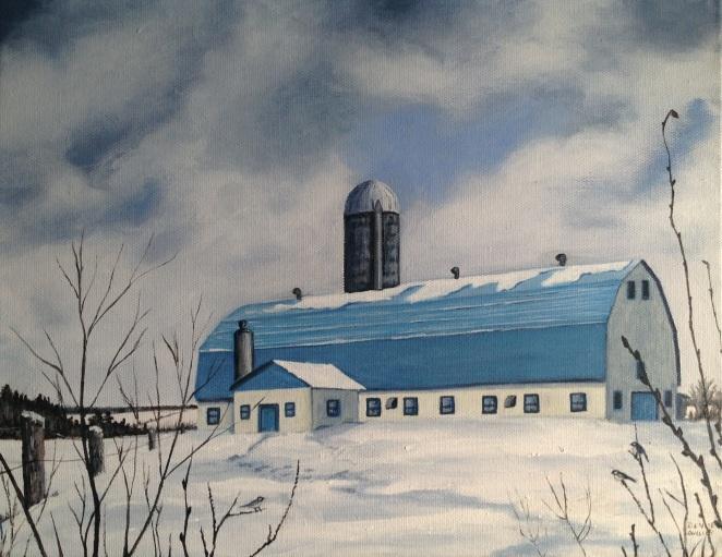 La grange au toit bleu
