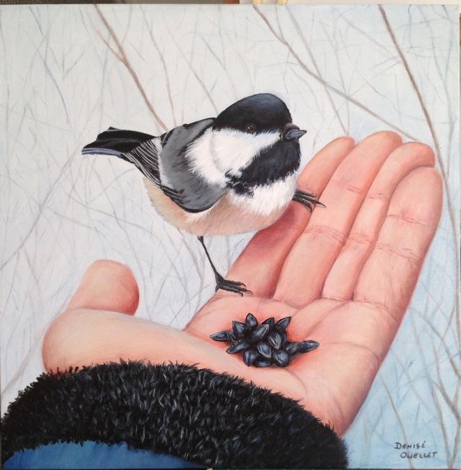 L'oiseau dans la main
